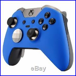 Blue Soft Touch Xbox One Elite Custom Controller / Un-modded / Fast Ship