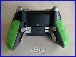 CUSTOM GREEN Microsoft Xbox One ELITE Controller with Scuf grips