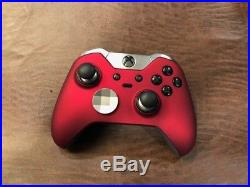 CUSTOM RED Soft Touch Microsoft Xbox One Elite Wireless Controller UNMODDED