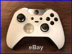 CUSTOM Soft Touch WHITE Microsoft Xbox One Elite Wireless Controller UNMODDED