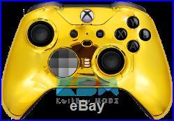 Chrome Gold Xbox One Elite Series 2 Custom Controller