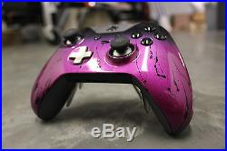 Custom Painted Microsoft Xbox One Elite Controller- Magenta with Black on Black