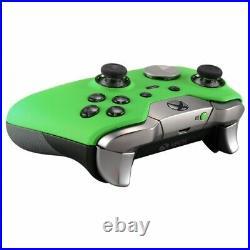 Custom Soft Touch Green Microsoft Xbox One Elite Wireless Controller Working