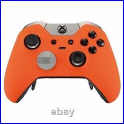 Custom Soft Touch Orange Microsoft Xbox One Elite Wireless Controller Working