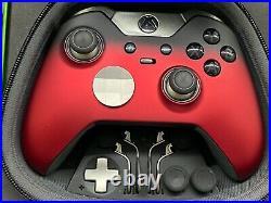 Custom Soft Touch Red & Black Microsoft Xbox One Black Elite Wireless Controller
