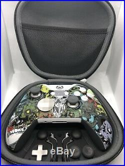 Custom White Xbox One Elite Skull Controller LIMITED EDITION