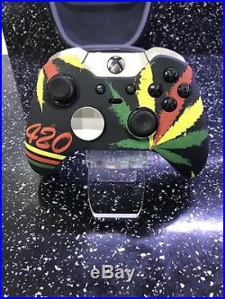 Custom Xbox One Elite Controller Cannabis Leaf Kush 420