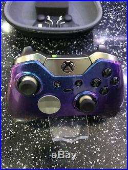 Custom Xbox One Elite Controller Chrome chameleon Purple Blue