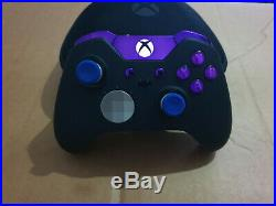 Customised Xbox One Elite Controller Purple Limited Edition With Purple LED