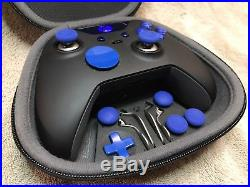 Elite Xbox One 1 Controller Custom BLUE Led, Buttons, ABXY withLetters, Joysticks