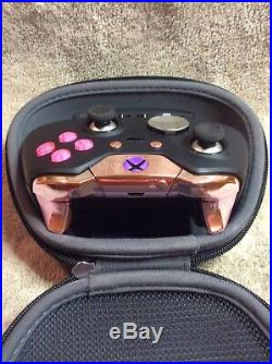 Elite Xbox One 1 Controller Custom, PINK Led, Buttons, ABXY Letters