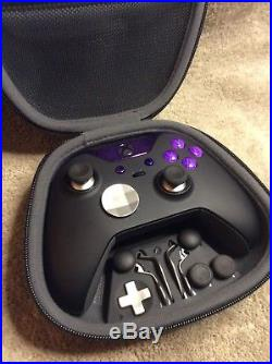 Elite Xbox One 1 Controller Custom PURPLE Led, Buttons, ABXY Letters