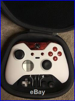 Elite Xbox One 1 Controller Custom WHITE, RED Led, Buttons, ABXY Letters