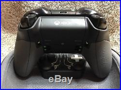 Elite Xbox One 1 Controller Custom WHITE SHELL, Black, Buttons, ABXY