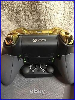 Elite Xbox One 1 ZELDA TRIFORCE Controller Custom Green Paint, Gold Chrome ABXY