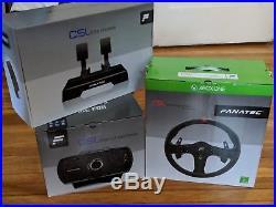 Fanatec CSL Elite Steering Wheel, Base & Pedals Bundle for XBOX One/PC