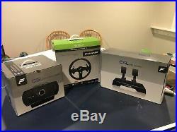 Fanatec csl elite bundle includes wheel, wheel base, 3 pedals for Xbox one