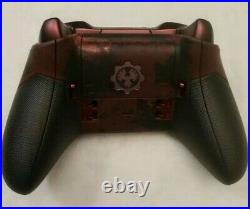 Gears Of War Xbox One Elite Controller Rare Limited Edition Crimson Red