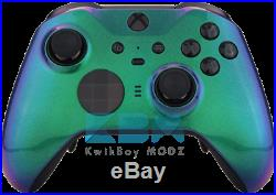 Green Chameleon Xbox One Elite Series 2 Custom Controller