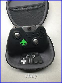 LOT OF 5 Microsoft Xbox One Black Elite Wireless Controller Series 1 For Parts