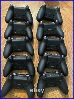 Lot of 10 Microsoft Xbox One Elite Black Series 2 Controller Parts/Repair