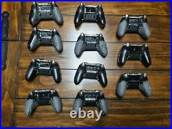Lot of 11 AS IS Microsoft Xbox One Elite Wireless Video Game Controllers
