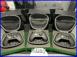 Lot of 3x Microsoft Xbox One Elite Black Controllers AS IS Parts or Repair 1698
