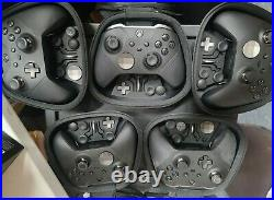 Lot of 5 Microsoft Xbox Elite Series 2 Wireless Controller (FOR PARTS OR REPAIR)