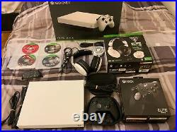 Microsoft XBOX ONE X 1TB White with Elite Series 2 Controller Bundle, games + more