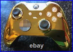 Microsoft Xbox One Elite Gamepad, White And Gold