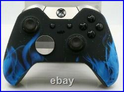 Microsoft Xbox One Elite Rapid Fire Modded Controller withBlue Flame Face Plate