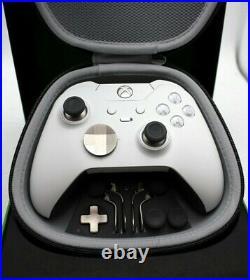 Microsoft Xbox One Elite White Controller Broken, Parts, Repair, Fix
