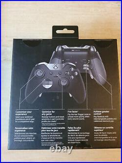 Microsoft Xbox One Elite Wireless Controller Series 1 Black Complete in Box