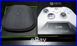 Microsoft Xbox One Elite Wireless Controller White with battery pack