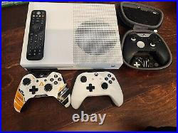Microsoft Xbox One S 2TB White Console with kinect, elite controller, games lot