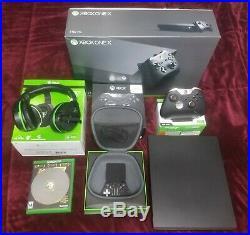 Microsoft Xbox One X 1TB Black Console Fallout 4 Elite Stealth Bundle