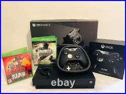 Microsoft Xbox One X 1TB Black Console + elite controller & headset Boxed