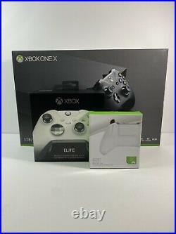 Microsoft Xbox One X 1TB Console Black Bundle with Elite Wireless Controller 1698