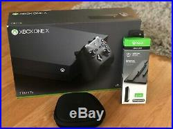 Microsoft Xbox One X 1TB Console Black, with Elite Wireless Controller and Stand
