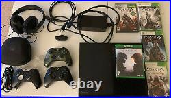 Microsoft Xbox One X 1TB Console Bundle -Elite Controller, Headset, Games & More