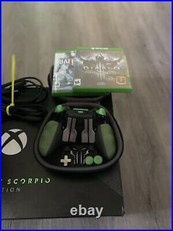 Microsoft Xbox One X Project Scorpio Edition + SCUF Elite Controler + Games
