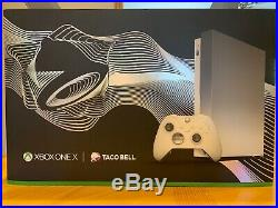 Microsoft Xbox One X Taco Bell Platinum with White Elite Controller MUST SEE