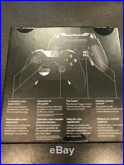 NEW Microsoft Xbox One Elite Wireless Controller Black Factory Sealed