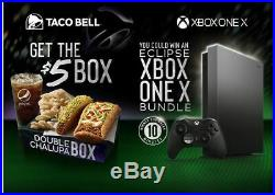 New Taco Bell Limited Eclipse Xbox One X Bundle inc elite controller, game pass
