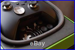 Official Microsoft Xbox One Elite Wireless Controller Black Model 1698 NICE