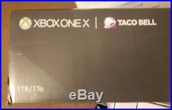 Rare Xbox One X Taco Bell Platinum Ed With Elite Controller and Extras