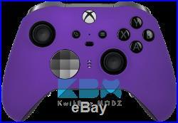 Soft Touch Purple Xbox One Elite Series 2 Custom Controller