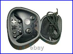 Working Microsoft Xbox One Black Elite Wireless Controller Series 1 MODEL1698