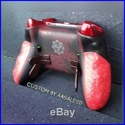 XBOX ONE ELITE WIRELESS CONTROLLER CUSTOM GEARS OF WAR KIT WITH SCUF WithRED LED