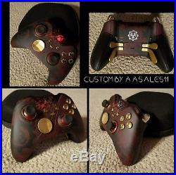 XBOX ONE ELITE WIRELESS CONTROLLER CUSTOM GEARS OF WAR KIT WithRED LED